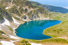Babreka, одно из 7 озер Rila, Болгария Стоковое Фото