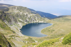 Babreka Lake. Beautiful aerial view of Babreka lake - one of the famous Seven Rila Lakes, Bulgaria Stock Photography