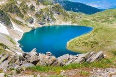 Babreka, uno di sette laghi Rila, la Bulgaria Immagini Stock