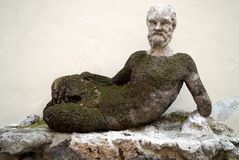 Antique Silenus statue on via del Babuino, Rome Royalty Free Stock Photos