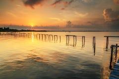 Babulo laut Sunrise. Labuan Malaysia. Bad shoe with beautiful sunrise at Babulo laut Stock Photos