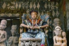Babungo王国, Ndofua Zofoa III的国王 免版税库存照片
