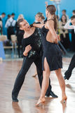 Babushin Anton und Milovidova Yana Perform Youth Latin-American Program Stockfotos
