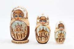 俄语babushka的玩偶 免版税库存图片