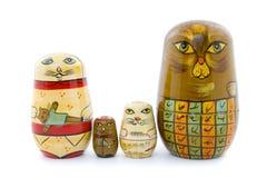 Babushka cat family Royalty Free Stock Image