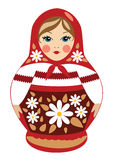Babushka doll in summer clothes royalty free illustration