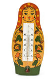 Babushka doll with thermometer Stock Images