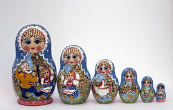 Babushka dolls. Traditional russian wooden dolls - babushkas Stock Image