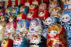 Babushka dolls. Famous Russian souvenirs Stock Photos