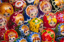 Babushka Dolls sold in a market Stock Photography
