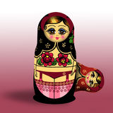 Babushka. Illustration of Russian traditional doll with stockings Royalty Free Stock Image