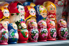 Babushka (Matryoshka) dolls Stock Photography