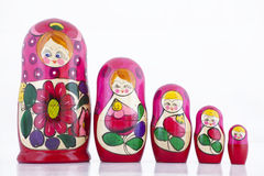 Babushka Nesting Dolls Stock Photo