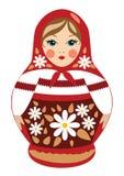 Babushka-Puppe in der Sommerkleidung Stockbilder