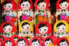Babushka Russian traditional nesting dolls Stock Photography