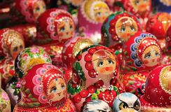 Babushka Russian traditional nesting dolls Stock Image
