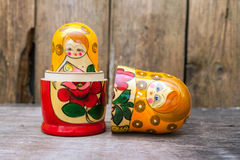 Babushkas or matryoshkas dolls. Royalty Free Stock Image