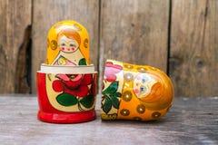 Babushkas or matryoshkas dolls. Royalty Free Stock Image