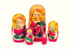 Babushkas or matryoshkas dolls. Royalty Free Stock Photography