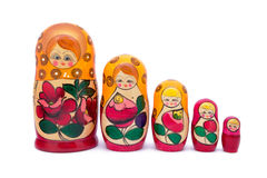 Babushkas or matryoshkas Stock Photography