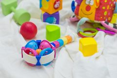 Baby's toys. For learning skill Stock Photo