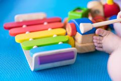 Baby's toys, playing for learning Royalty Free Stock Photography