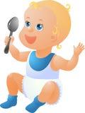 Baby önskar att äta Royaltyfri Foto