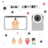 Baby überwacht Gestaltungselement Stockbilder