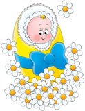 Baby 004. Illustration for children. A series Baby Royalty Free Stock Photography