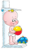 Baby 017. Illustration for children. A series Baby Stock Photography