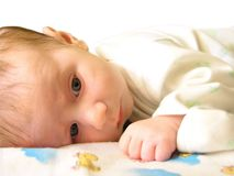 Baby 1. Two month child royalty free stock image