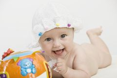Baby. Closeup portrait of adorable baby Royalty Free Stock Photos
