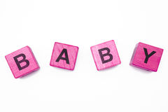 Baby. The baby inscription on the white background Royalty Free Stock Image