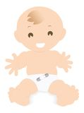 Baby. A baby wants some hug Stock Images