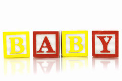 Baby. Word Baby in wooden blocks Royalty Free Stock Photography