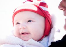 Baby. Smiling baby royalty free stock image