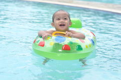 Baby. Cute baby in swimming pool Stock Photo