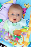 Baby. With big blue eyes Royalty Free Stock Images