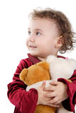 Baby. Nice kid with toy's. Shot in studio. Isolated with clipping path Stock Photos