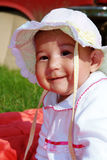 Baby. Portrait in nature smiling Royalty Free Stock Photos