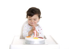 Baby 1st cake Royalty Free Stock Photo