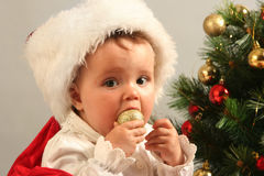 Baby. Cute little girl with presents Stock Photo