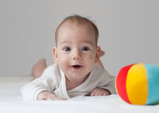 Baby. Little Baby Boy 0-6 months Royalty Free Stock Photo