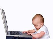 Baby 3 van technologie Stock Foto's