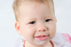 Baby. Portrait of the beautiful baby close up Stock Photography