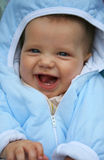 Baby. A happy smiling baby boy stock photo