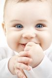 Baby. Bright closeup potrait of adorable baby royalty free stock photo