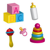 Baby 3d. Set of color icons 3d- baby Stock Photography