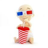 Baby 3d cinema glasses Royalty Free Stock Photos