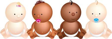 Baby 4 set Royalty Free Stock Image